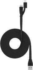 Mophie Micro-USB and Apple Lightning Switch-tip Cable - Black