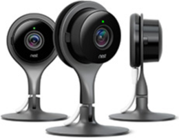 Google Nest Cam Indoor black smart home security camera  - 3 Pack