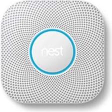 Google Nest Protect White Smart Home 2nd Gen Smoke Alarm w/Battery