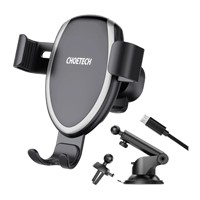 CHOETECH 7.5W Vent & Dash Suction Gravity Mount Wireless Car Charger