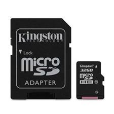 Kingston Class 10 Memory Cards Micro SDHC w/ SD adapter