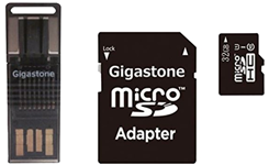 Gigastone 4-In-1 32GB Prime microSD Card C10 U1