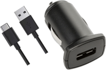 KEY 2.4 Amp Car Charger with USB 2.0 to USB-C Cable