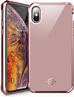 ITSKINS iPhone XS Max Hybrid Glass Iridium Case