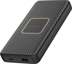 OtterBox 10,000mAh Black Dual Port USB-A (12W)+USB-C PD (18W) Portable Power Bank w/10W Qi Charging