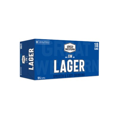 Great Western Brewing Company 18C Great Western Lager 6390ml