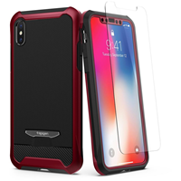 Spigen iPhone XS/X Reventon Case with Tempered Glass Screen Protector