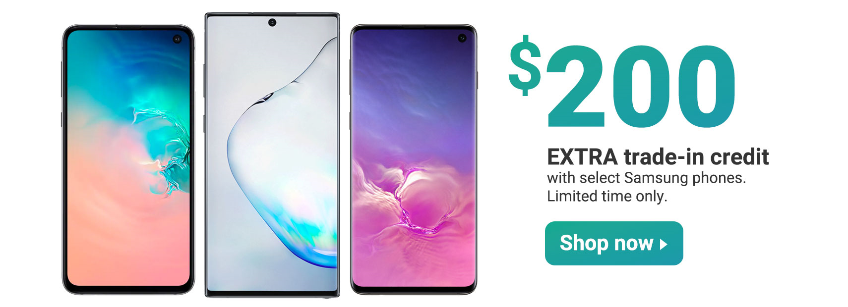 $200 extra trade-in credit with select Samsung phones