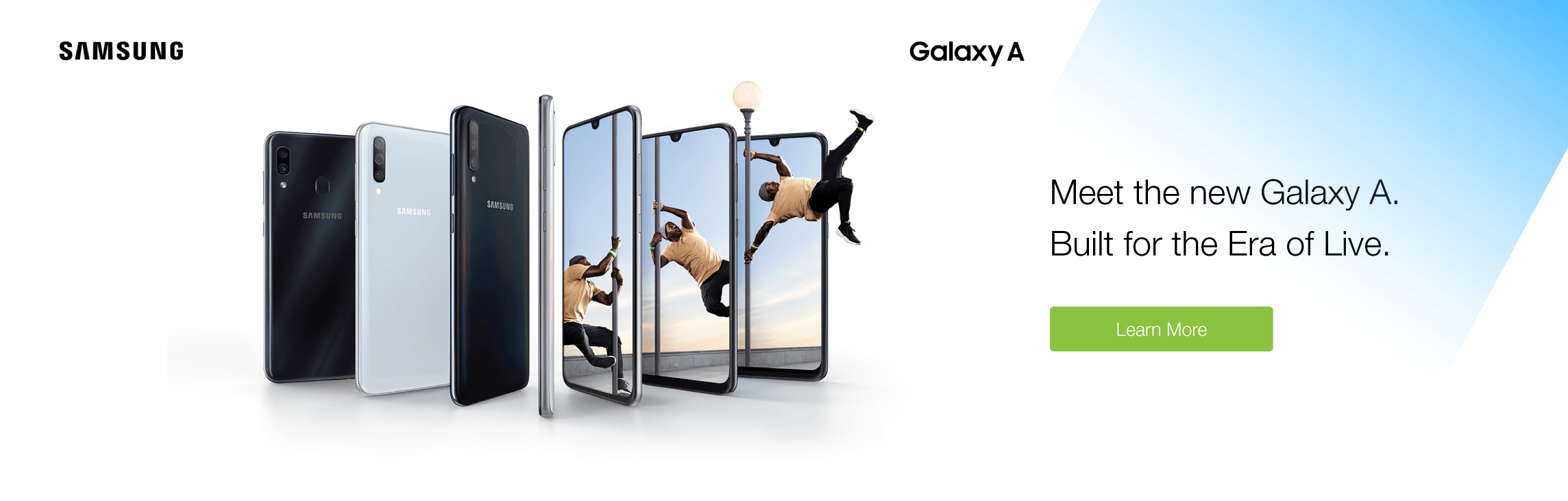Get a new Samsung Galaxy A series smartphone today!