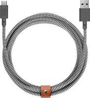 Native Union XL USB-C 10ft Zebra Belt Cable
