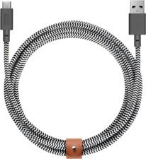 Native Union XL USB-C 10ft Zebra Belt Cable