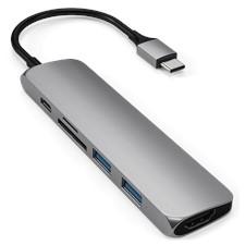 Satechi Slim Aluminum Usb C Multi Port Adapter V2