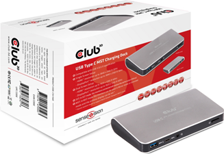 Club3D - USB-C 3.1 Gen 1 to MST Single 4K30HZ Dual 1200p Charging Dock 60W