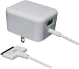 Muvit Apple 30-pin Travel Charger with extra USB port
