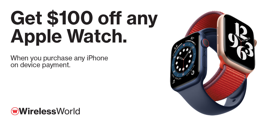 Get $100 off any Apple Watch with purchase of any iPhone