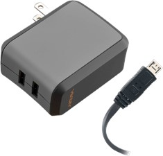 Ventev Dual 2.4A Micro USB and USB Wallport Charger