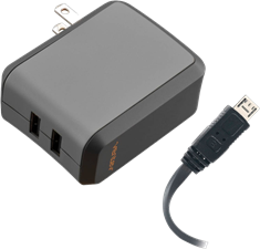 Ventev Dual 2.4A Micro USB and USB Wallport Charger