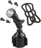 RAM Mounts RAM X-Grip with Stubby Cup Holder Base Rugged Vehicle Mount