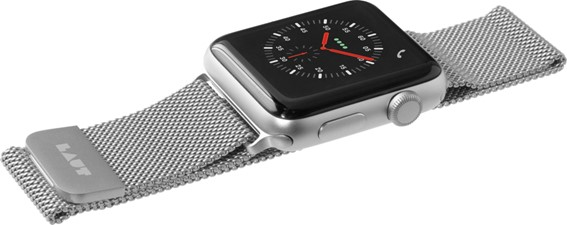 Laut Silver LAUT STEEL LOPE for Apple Watch 4/3/2/1- 38mm