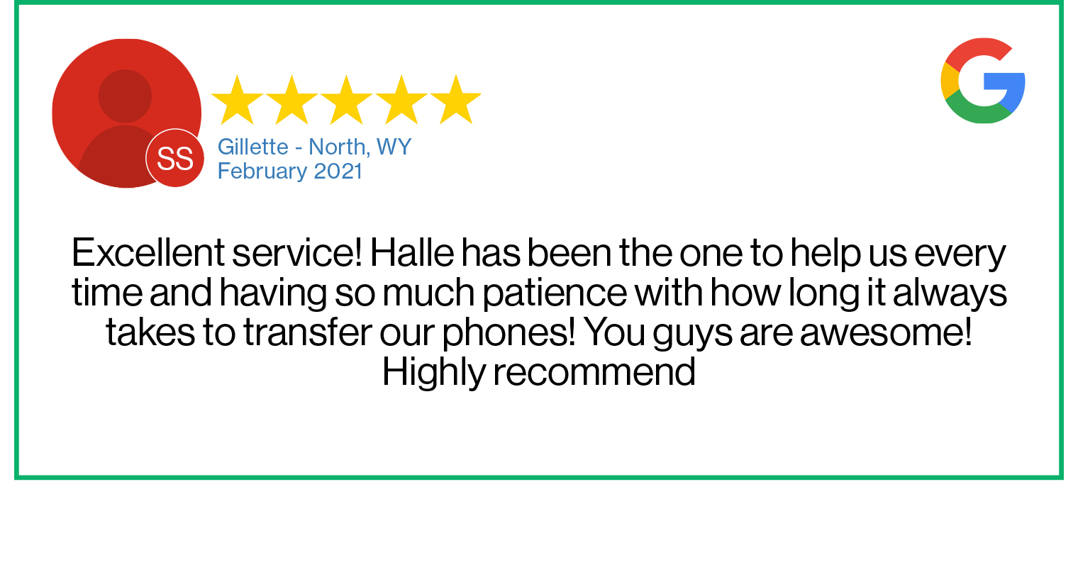 Check out this recent customer review about the Verizon Cellular Plus store in Gillette, Wyoming.