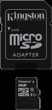 Kingston microSDHC Class 10 Secure Digital Card w/ SD Adapter
