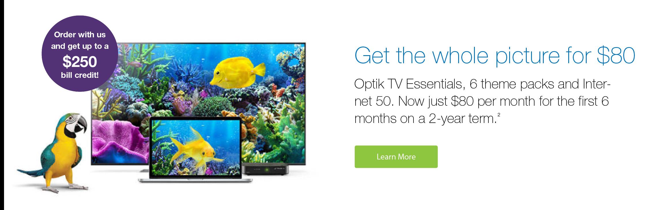 Optik TV & Internet Bundle