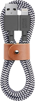 Native Union Belt Cable Lightning to Type-C in Zebra
