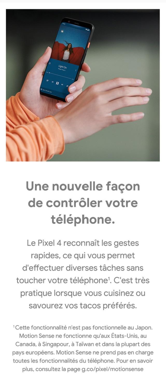 Les gestes rapides – une nouvelle facon de controler votre telephone