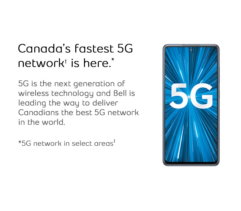 Canada's fastest 5G network is here.