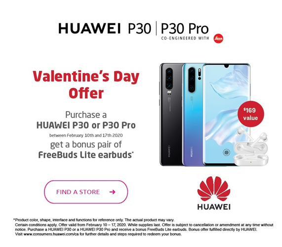 Find a store - Bonus pair of Huawei Freebuds Lite earbuds