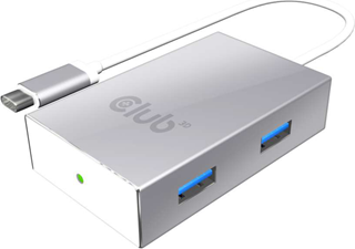 Club3D - USB-C 3.1 Gen 1 to 4 USB/USB 3.1 Gen 1 inclusive 1 Port BC 1.2 Charging