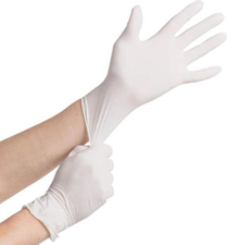 General PPE Vinyl Gloves Medium Powder Free White (Box of 100)