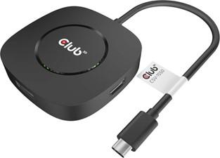 Club3D - USB-C 3.2 Gen 1 Multistream Transport MST Hub Display Port 1.4 Triple Monitor