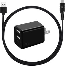 Blu Element Dual USB 3.4A Wall Charger w/USB Type-C Cable