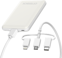 Mobile Charging Kit Power Bank 5000 Mah And 3 In 1 Cable 1m
