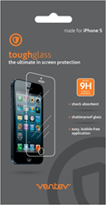 Ventev iPhone 5/5s/5c/SE toughglass Screen Protectors