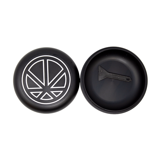 Cannapuck -  Peace Leaf - Black