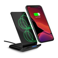 HyperGear 10W Black Dual Coil Wireless Fast Charging Stand w/ Fast Charge Wall Charger