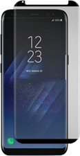 Gadget Guard Galaxy S8+ Black Ice Cornice 2.0 Full Adhesive Curved Tempered Glass Screen Guard