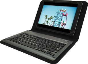 PureGear Universal Keyboard Folio Case for 8.9-10.1'' Tablets