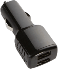 KEY 4.8A Dual-USB Car Charger (DC ONLY)
