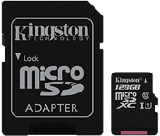 Kingston Canvas Select 128GB microSD Card w/ Adapter