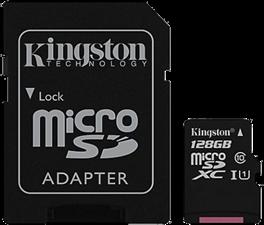 Kingston Canvas Select 128GB microSD Card w/ Adapter