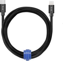 Blu Element - Braided Charge/Sync USB-C to Lightning 10ft - Black