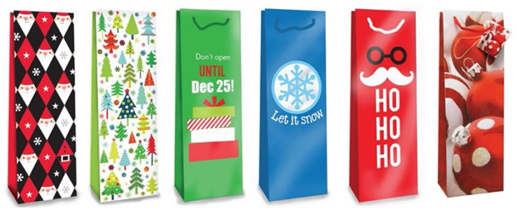 Smith & Doyle Assorted Holiday Wine Gift Bags
