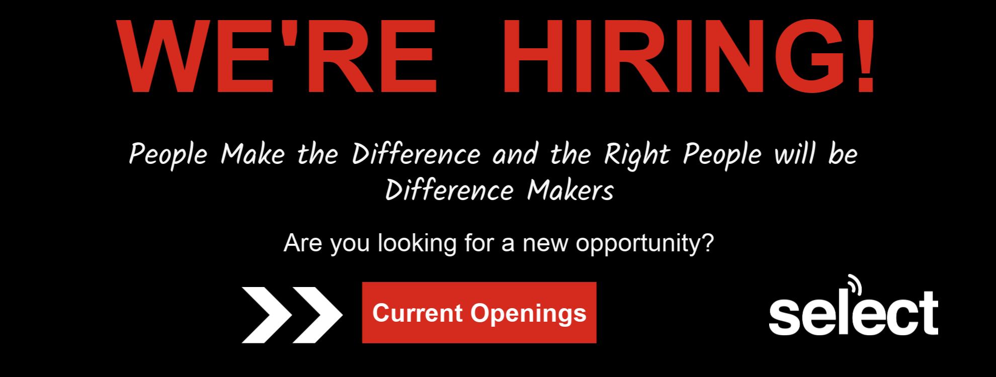 we're hiring - job opportunities