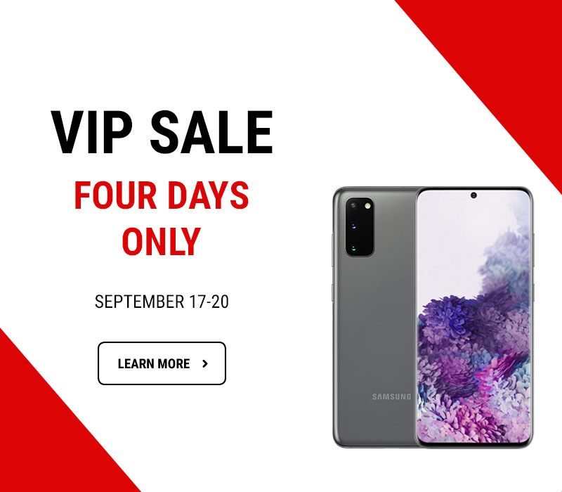 VIP Sale Four days only – September 17-20