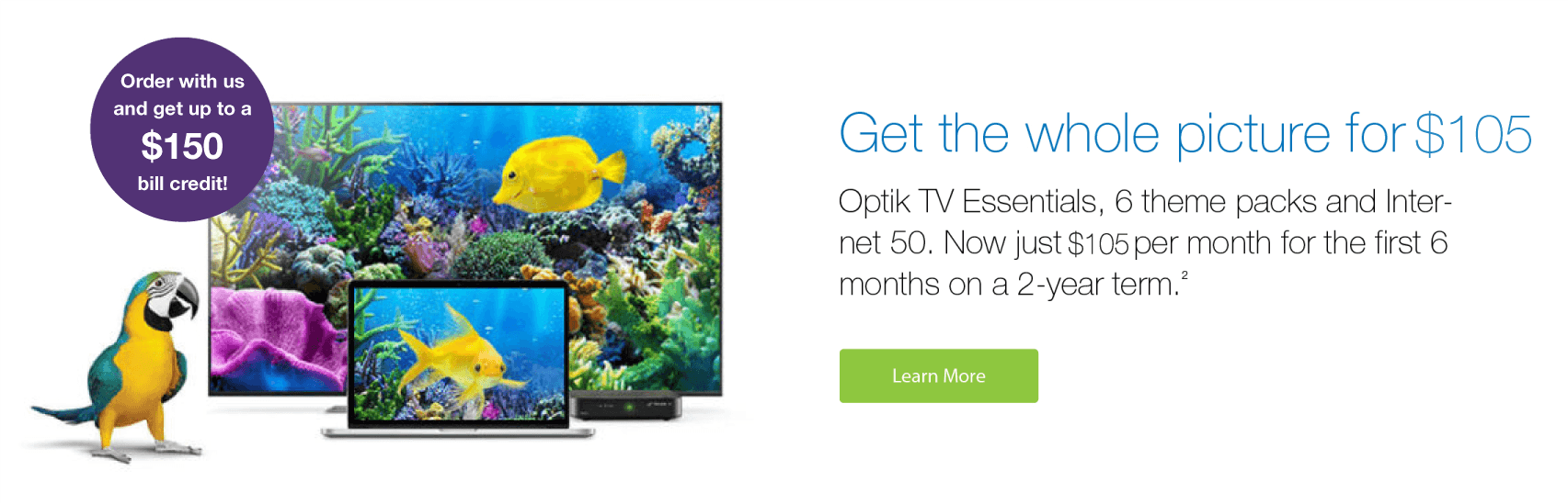 Optik TV & Internet Bundle