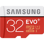 Samsung MicroSDXC EVO+ Memory Card w/ Adapter 32GB