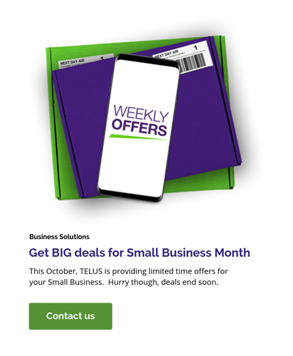TELUS Small Business Month